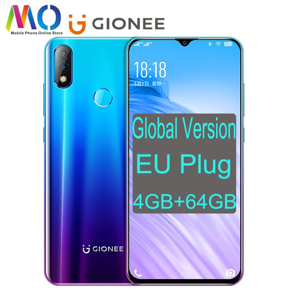NEW Global Version GIONEE K3 4GB RAM + 64GB ROM 6.2inch 5000mAh Smartphone MTK6763 Octa Core 16.0 MP AI Dual camera mobile phone (Black color 4GB RAM 64GB ROM)