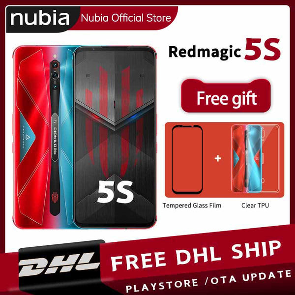 New Stock Original Nubia Red Magic 5S Gaming Mobile Phone 6.65 inch 144Hz AMOLED 16GB 256GB Snapdragon 865 RedMagic 5S Wi-Fi 6