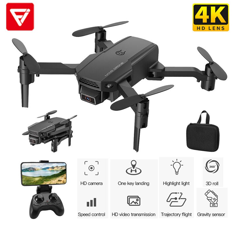 Toy Drone KF611 Mini Drone With HD Camera 720P WiFi FPV RC  Foldable Drone Altitude Hold RC Quadcopter For Kid