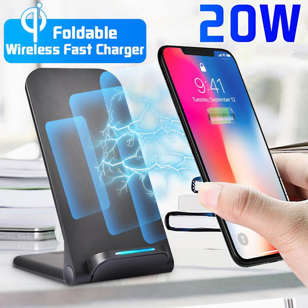 20W Qi Fast Wireless Charger For iPhone 11 X XS MAX XR Quick Charge Wireless Charger Pad For Samsung Huawei Xiaomi