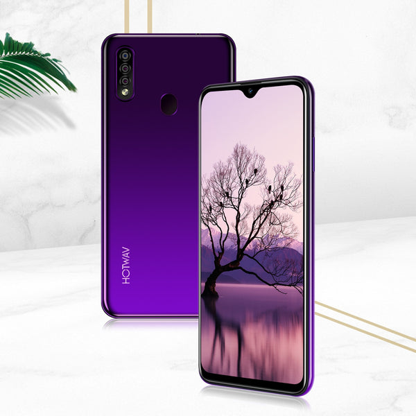 XGODY HOTWAV 4G Mobile Phones 19:9 Waterdrop 6.3Inch Smartphone Android 9.0 Quad Core 2GB 16GB Face ID 4150mAh Fingerprint phone