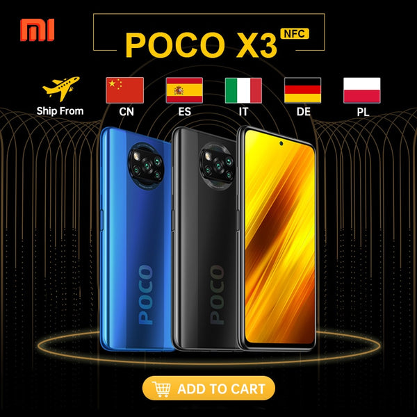 Global Version Xiaomi POCO X3 NFC Smartphone Android 64GB 128GB Snapdragon 732G 64MP Camera 5160mAh 6.67