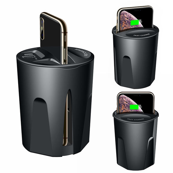 10W Fast Wireless Charger Car Charger Cup for iPhone 11 Pro XS XR/X/8 SAMSUNG Galaxy S9/S8/Note10/Note9 car Cup Charging holder