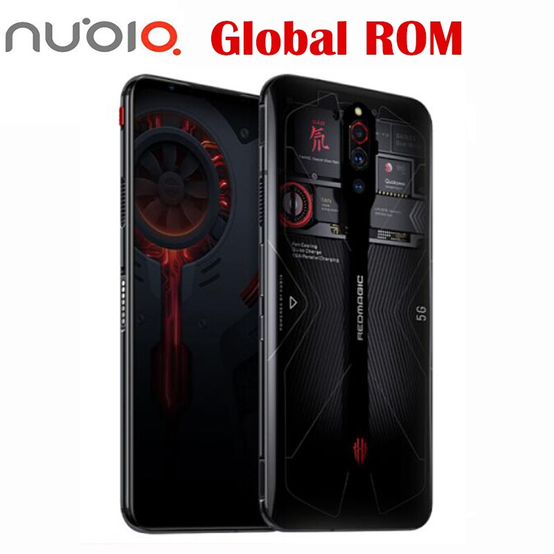 Global rom New Official Nubia Red Magic 5G SmartPhone Snapdragon 865 WIFI 6 64.0MP 6.65'' 4500mAh 144Hz Amoled Sceen 8G 128G