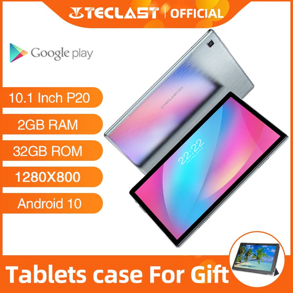 Android Tablets Teclast P20 10.1 Inch 2GB RAM 32GB ROM 1280×800 6000mAh Battary Octa Core AI Speed-up