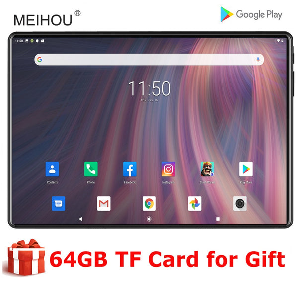 2020 10 inch tablet Android 9.0 1280x800 HD Screen Tablet 2+32GB IPS  WiFi Bluetooth Media Pad+64GB Memory Card Gift