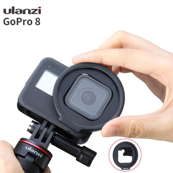 Ulanzi G8-6 52MM Filter Adapter for Gopro Hero Black 8 Easy Install Removable Gopro 8 Filter Adapter Ring (Black Color)