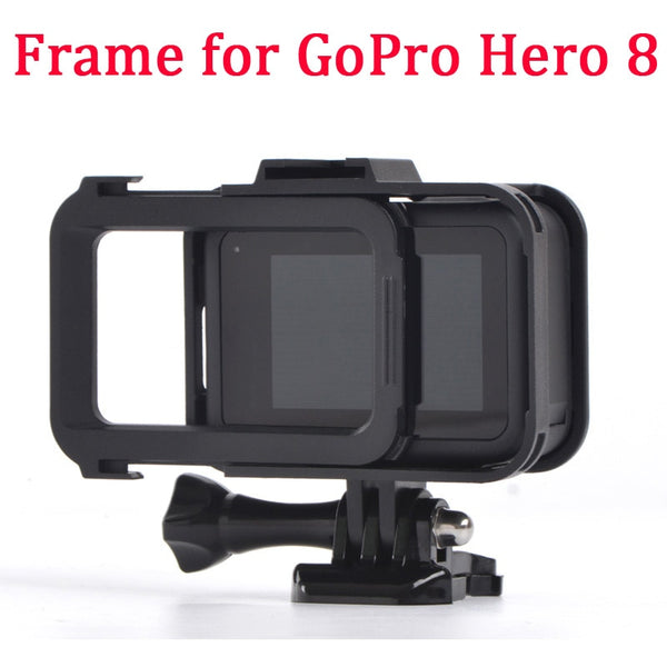 Frame Mount for GoPro Hero 8 Black Protective Shell for Go Pro HERO8 Action Camera Accessories Case (Black Color)
