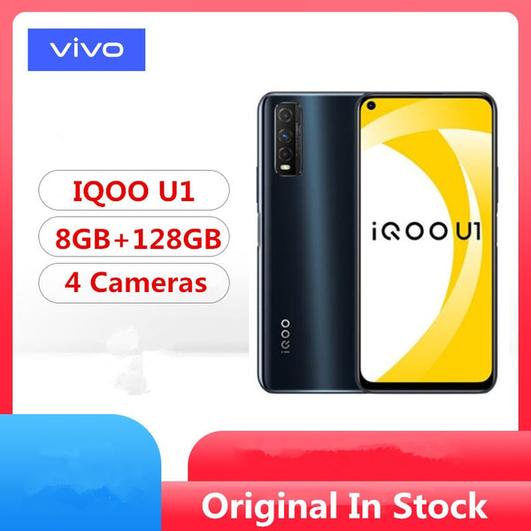 Original Vivo IQOO U1 4G LTE Mobile Phone Snapdragon 720G Android 10.0 6.53