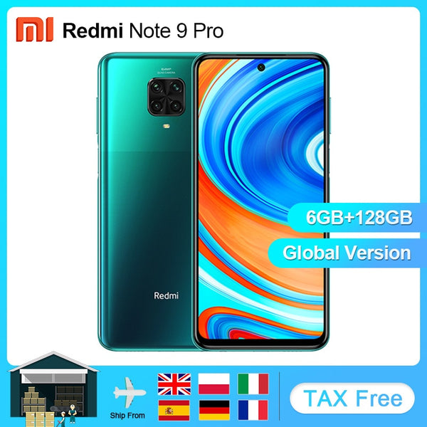 Xiaomi Redmi Note 9 Pro 6GB 128GB Global Version NFC Snapdragon 720G Mobile Phone 6.67