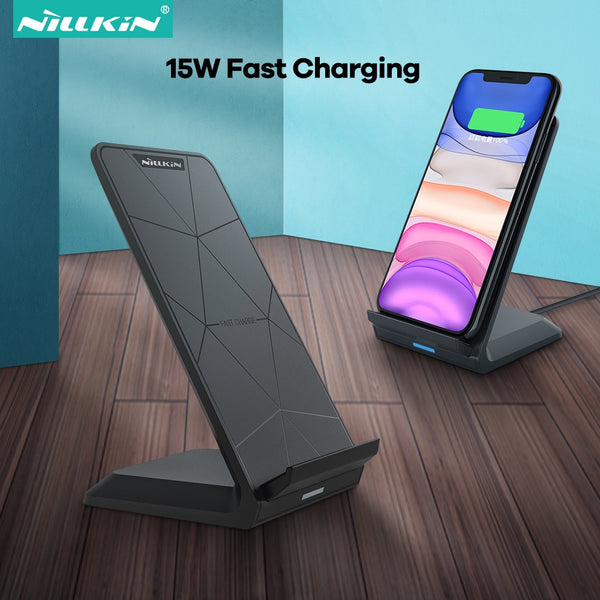 NILLKIN 15W Qi Wireless Charger Stand For iPhone SE 12 11 Pro X XS 8 XR Fast Wireless Charging For Samsung Note 20 S20+ S20 S10