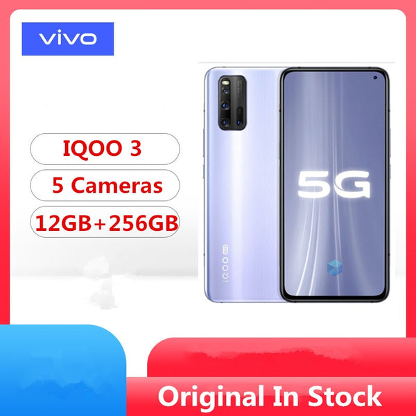 DHL Fast Delivery Vivo IQOO 3 5G Cell Phone Snapdragon 865 Android 10.0 6.44