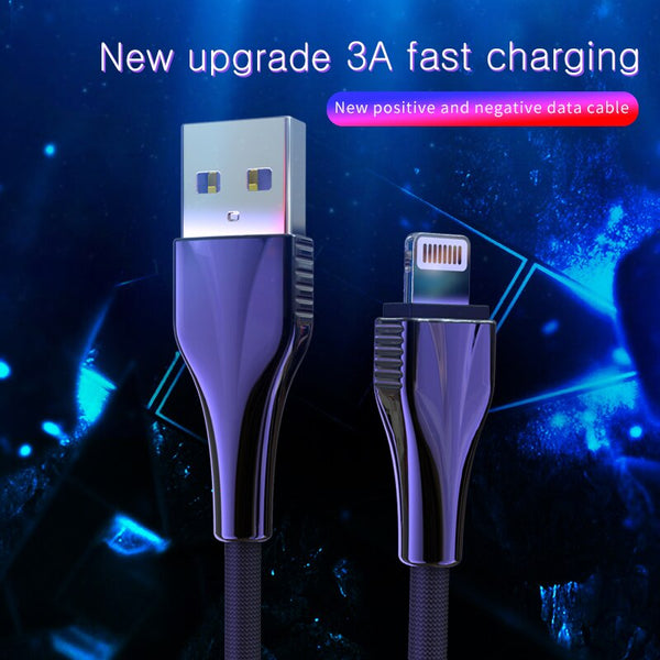 NOHON USB Cable For iPhone 11 Pro XS MAX XR X 8 7 6S Plus 3A Durable Fast Charging Cables Mobile Phone Charger Cord Data Line