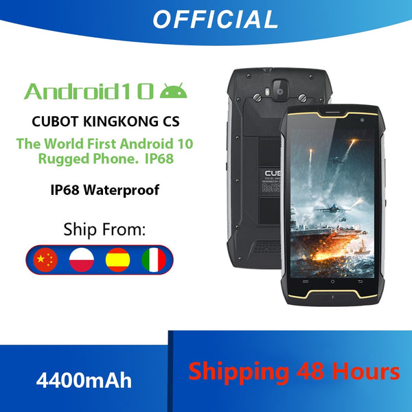 Cubot KingKong CS Android 10 IP68 Waterproof Smartphone 5 Inch 4400mAh Face ID Dual SIM Card Telephone Rugged Phone King Kong CS (Picture Color)