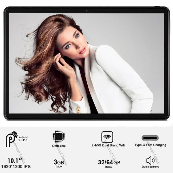 Global Version 10 inch 4G LTE Tablet PC Dual Sim Dual cameras Android 9.0 Octa Core 3GB RAM 64GB ROM IPS WiFi Bluetooth+Gifts