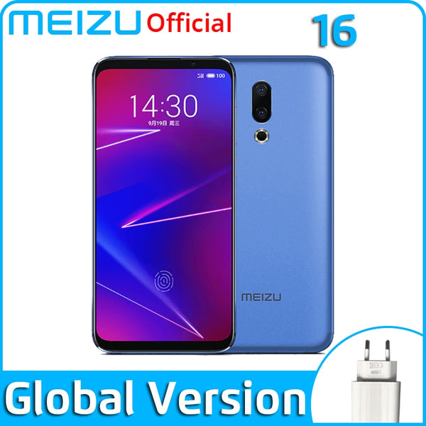 Meizu 16 6G 64G 128G Global Version Mobile Phone Snapdragon 710  Octa Core 6'' FHD 2160x1080P Dual Rear Camera 3100 mAh Battery