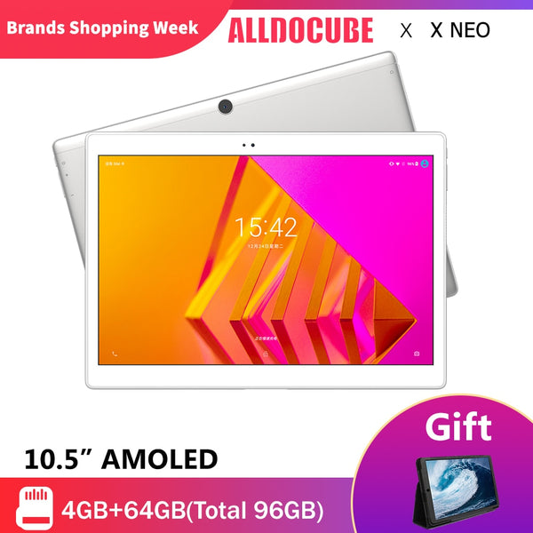 ALLDOCUBE X NEO 4G LTE 10.5 inch 2.5K 2560*1600 Super AMOLED Screen Ultra Slim Tablet PC Android 9.0 4GB RAM 64GB ROM Dual SIM