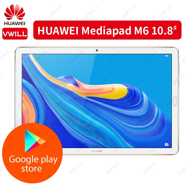 Original Huawei Mediapad M6 10.8 inch WIFI Tablet PC Kirin 980 Octa Core Android 9.0 Fingerprint ID 7500mAh Google play