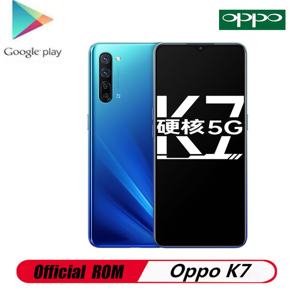 DHL Fast Delivery Oppo K7 5G Cell Phone Android 10.0 6.4