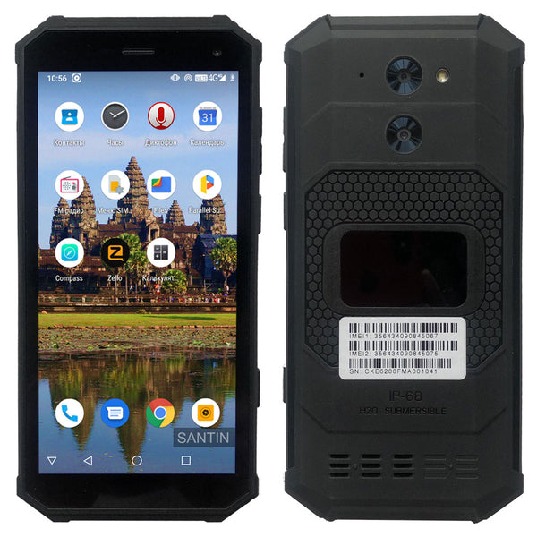 4050mAh Android 9.0 IP68 Waterproof SANTIN 5.5