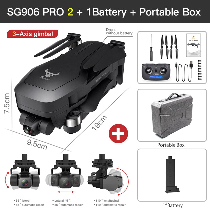 2020 SG906 PRO 2 Drone GPS 3-Axis gimbal with 4K 5G WIFI Dual Camera professional ESC 50X Zoom Brushless Quadcopter RC Drone