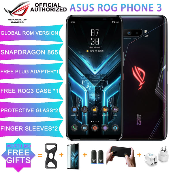 NEW Asus ROG phone 3 Snapdragon 865 ROG3 NFC Gaming phone 6000mAh Battery 8G+128G 5G rog3 gaming phone Smartphone ROG phone 3