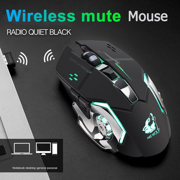 Universal 2.4G Wireless Mouse Rechargeable 2400 DPI Mechanical Mouse 10m Backlit Gaming Mouse For Laptop Desktop Game enthusias
