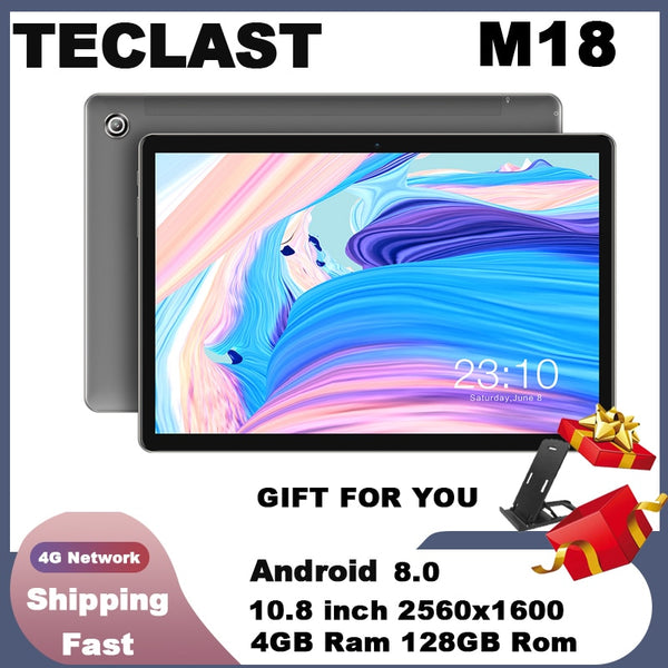 Teclast M18 Tablet 10.8 inch 4G Phablet Helio X27 Android 8.0 2560*1600 2.6GHz Deca core CPU 4GB 128GB 8.0MP+2.0MP Dual Camera (tablet pc)