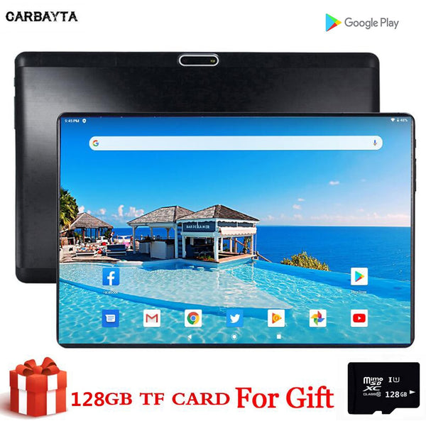 Free Gift 128GB TF Card Tableet MID Global Bluetooth Wifi phablet Android 9.0 10.1 inch tablet pc MTK Core 2GB RAM 32GB ROM