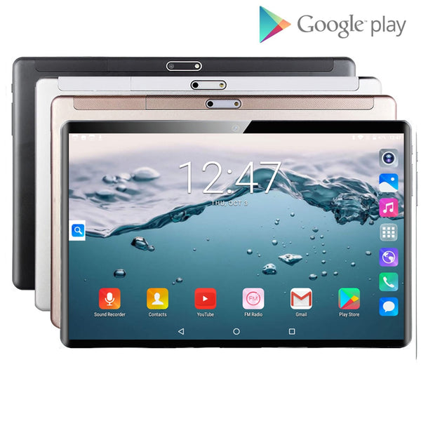 2020 Newest 10 inch Tablet PC Android 9.0 Quad Core 32GB ROM 5.0MP IPS 1280*800 GPS Wifi Phone Tablets 10.1 + 64GB Memory Card