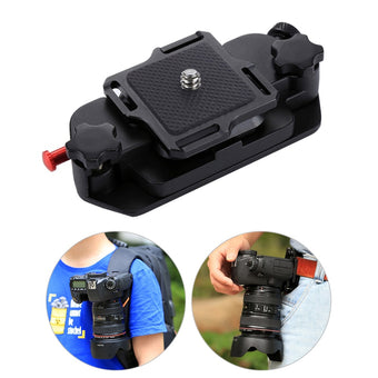 Camera Clip Camera Belt Holster Mount Waist Clips Holder Quick Release Clip with Plate 1/4 Inch Screw for Digital Camera DV DSLR