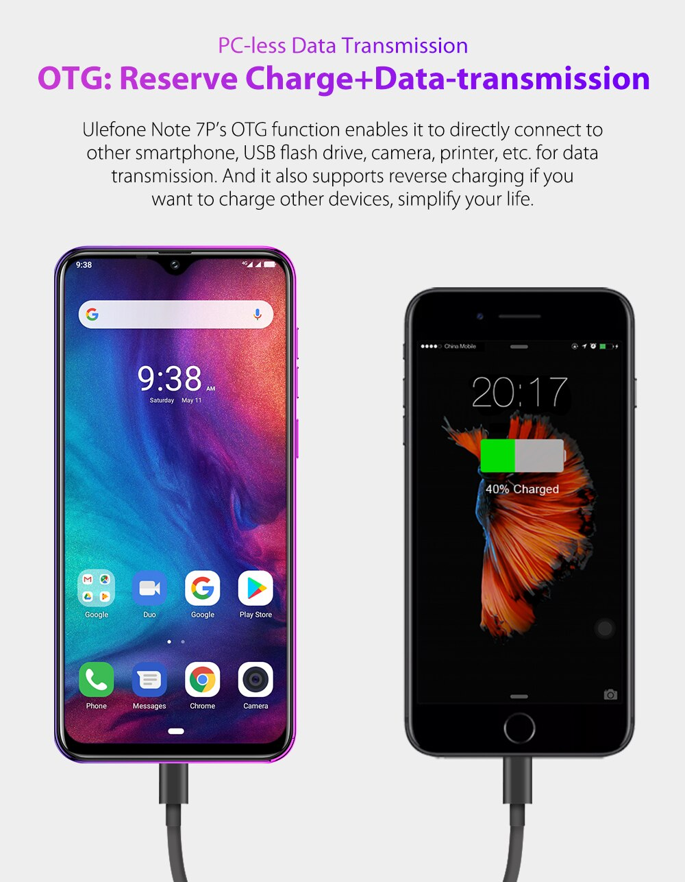 Ulefone Note 7P Android 9.0 Smartphone 3500mAh 6.1 inch Triple Camera Face ID Quad Core 3GB+32GB 4G Cell Phone Mobile Phone