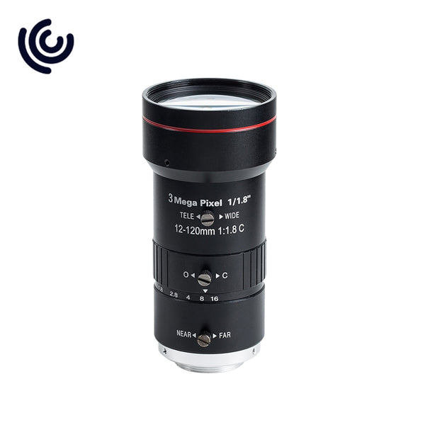 "1/1.8"" Varifocal 12~120mm F1.8 cs mount cctv auto iris lens"