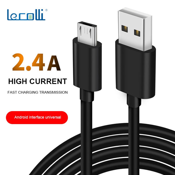 Mobile Phone Fast Charging Data Line Environmental Micro Usb Android Data Cable 1 Meter 2.4A Universal TPEV8 Fast Charging Line