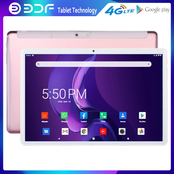 2020 BDF 10.1 Inch Android 9.0 Tablets Pc 3G 4G LTE SIM Card Phone Call WiFi Bluetooth Version Tablet Pad Pc Octa Core 32GB ROM