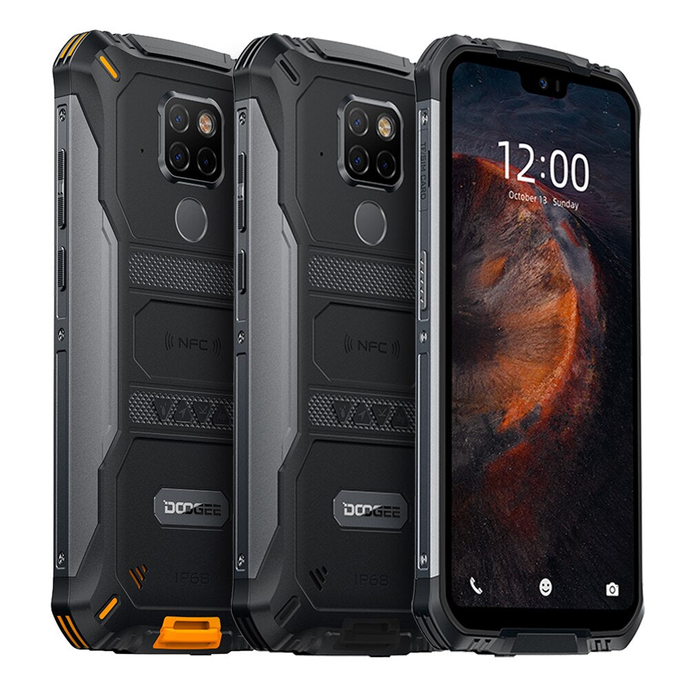 IP68 Waterproof DOOGEE S68 Pro Rugged Phone 6GB 128GB Helio P70 Cellphones 21MP+8MP+8MP 6300mAh 5.9 inch FHD 12V/2A Smartphone
