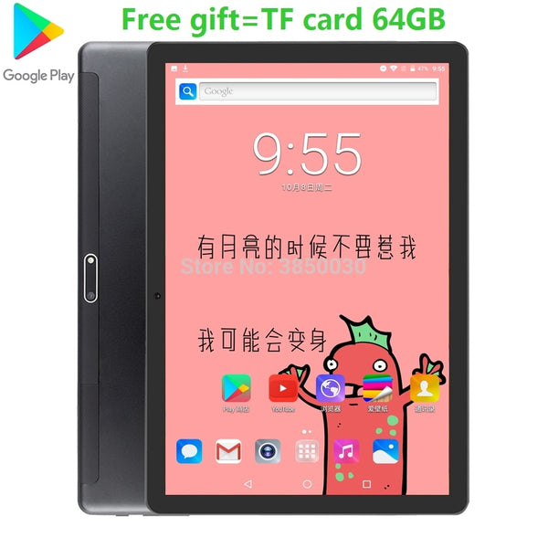 2020 Fast Shipping Android 9.0 Tablet PC Tab Pad 10 Inch IPS 4 Core 2G+ 32GB ROM Dual SIM Card LTD Phone Call 10.1