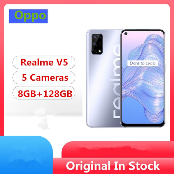 Original Realme V5 5G Mobile Phone Mediatek 720 Android 10.0 6.5