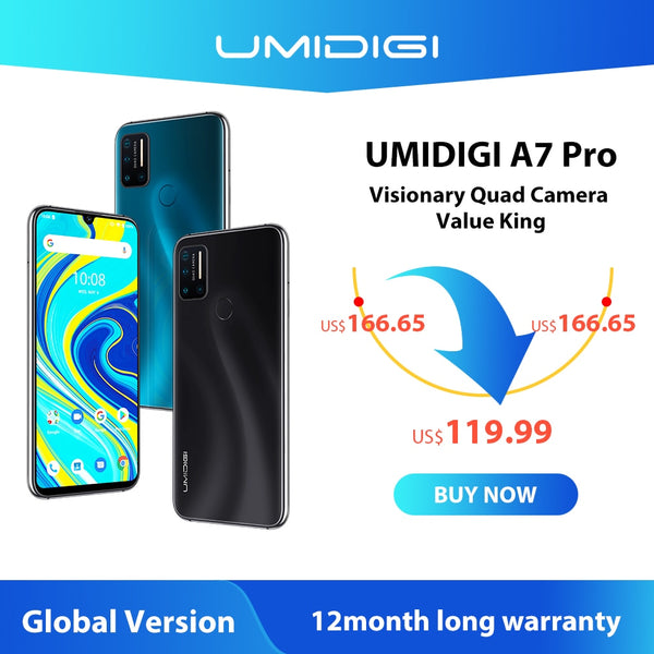 UMIDIGI A7 Pro Phone Quad Camera Android 10 OS 6.3