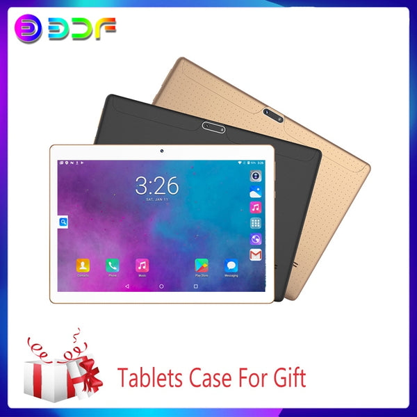New 10.1 inch Tablet PC System 7.0 Octa Core 3G/4G Phone Call 4GB+64GB Wi-Fi Bluetooth Dual SIM Original Tablets+Luxury Gift