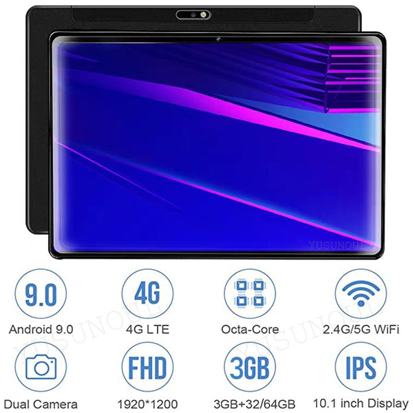 Sale!3+32/64GB 4G LTE Phone Call 5G WIFI 1920*1200 Android 9.0 FHD 8 Cores tablet pc 10 inch Google Play Tablets 10 10.1 планшет