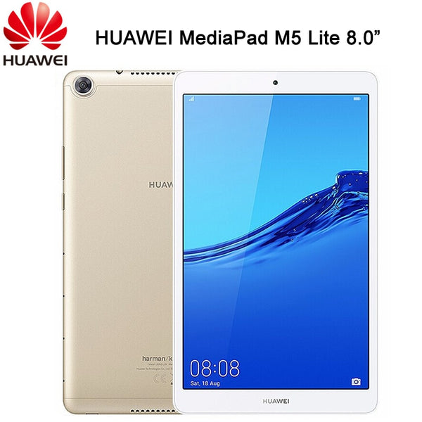Original HUAWEI MediaPad M5 Lite 8.0 inch Android 9 4G LTE Phone Call Hisilicon Kirin 710 Octa Core Dual Camera 5100mAh Tablet