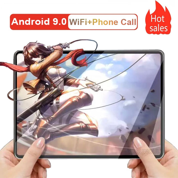 New Version Free Shipping Super 2.5D Tempered Glass 10 inch tablet PC Android 9.0 Wifi GPS tablette android Планшеты+Free Gifts