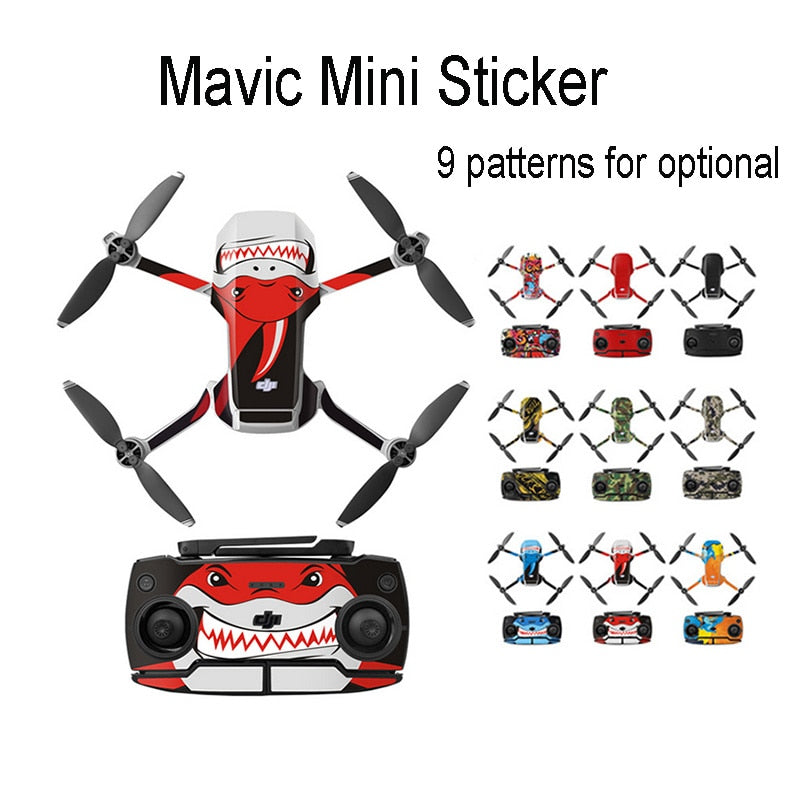 Protective Film PVC Stickers for Mavic Mini Remote Controller Decals Full Cover Skin Sticker Set for DJI Mini Drone Accessories