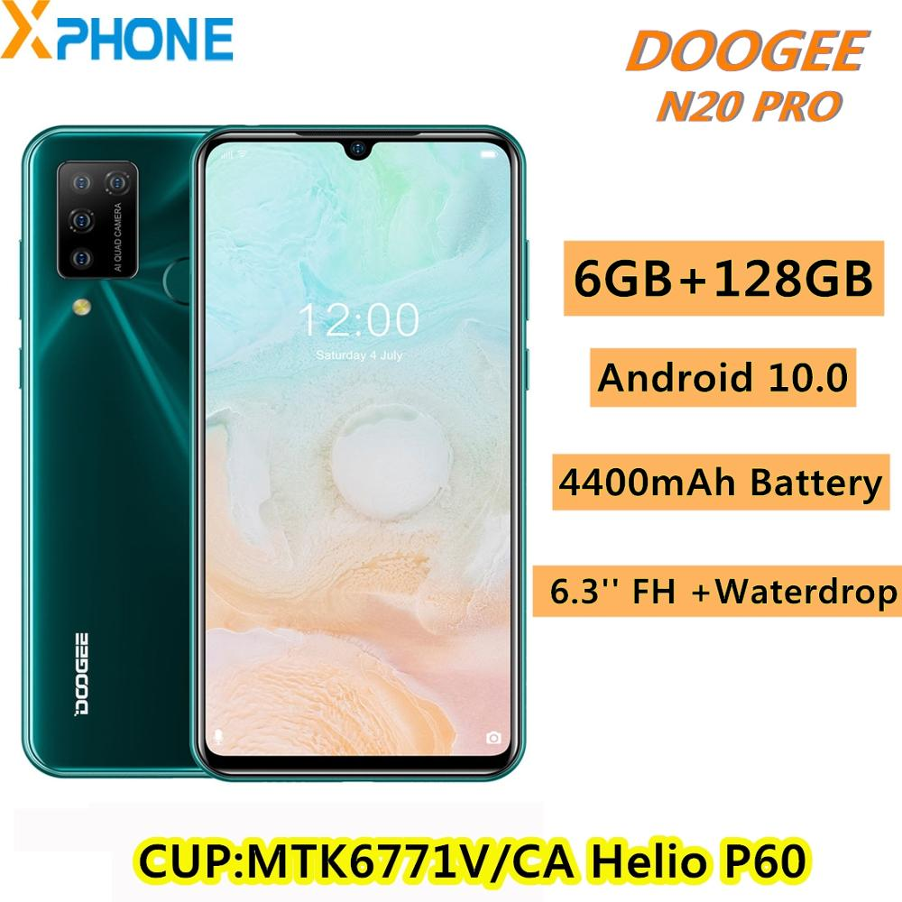 DOOGEE N20 Pro 6GB+128GB Quad Back Cameras 4400mAh Battery 6.3 inch Waterdrop Notch Screen Android 10.0 MTK6771V/CA Helio P60