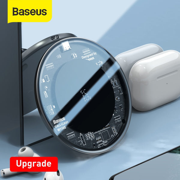 Baseus Upgrade 15W Wireless Charger For iPhone 11 X Xs Max Xr 8 Plus Fast Wireless Phone Charger For Samsung S10 S9 Xiaomi MI9