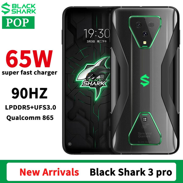 Global Rom Original Xiaomi Black Shark 3 Pro 5G Gaming phone 7.1 inch Snapdragon 865 Octa Core WiFi 6