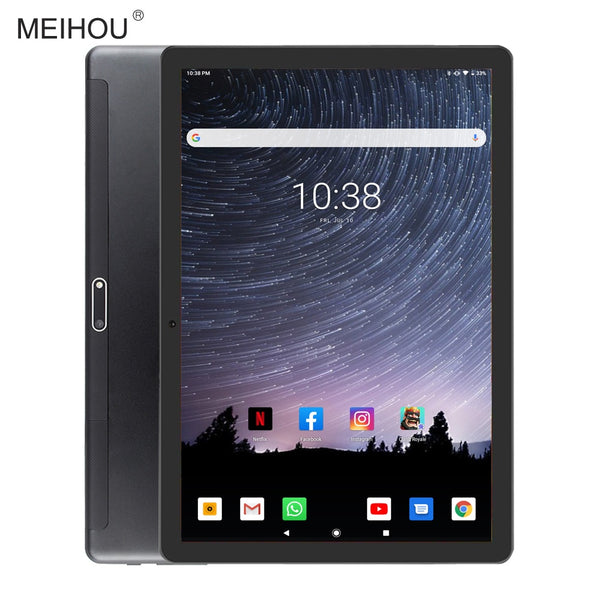 2020 New 10 inch Tablet Ultra Slim 2 GB RAM 32GB ROM 2.5D Tempered Glass 5.0M Dual Camera Android 9.0 Tablet 10.1