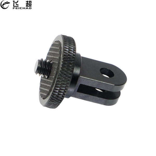 Mini Tripod Mount Adaptor Aluminum Alloy CNC 1/4 Screw Head Adapter for GoPro Hero 8 7 6 5 for DJI Sony EKEN Camera Accessories