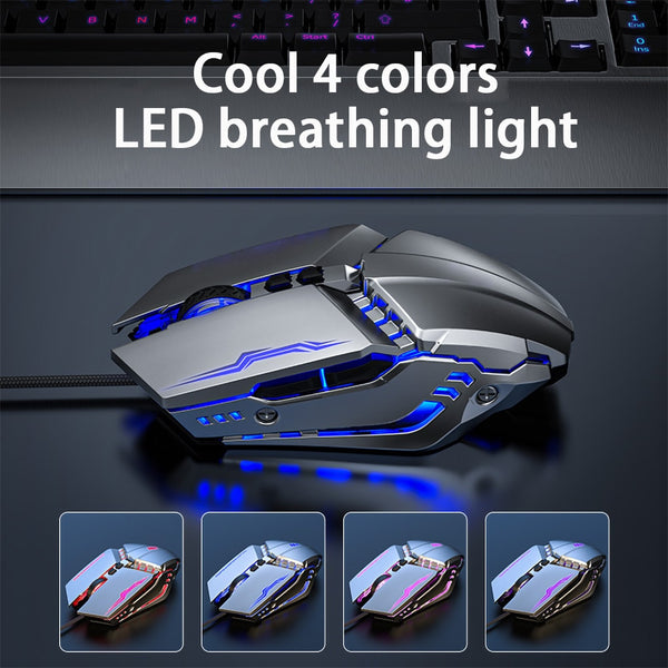 Wired Gaming Mouse Gamer 3200DPI USB Ergonomic Mouse Computer Office Sound Silent USB Optical Mice For Macbook Laptop PC